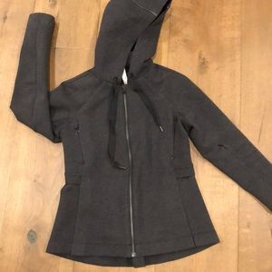 Lululemon Dark Gray Jacket with Hoodie!